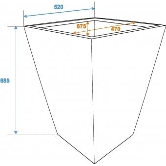 EUROPALMS Cachepot Terracotta-optics 52x69cm #2