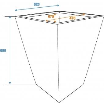 EUROPALMS Cachepot Terracotta-optics 52x69cm #3