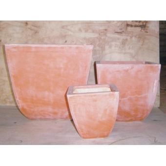 EUROPALMS Cachepot Terracotta-optics angled 40x40cm #2
