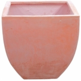 EUROPALMS Cachepot Terracotta-optics angled 40x40cm