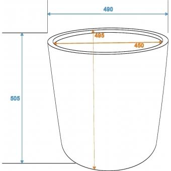 EUROPALMS Cachepot Terracotta-optics round 50x50cm #2