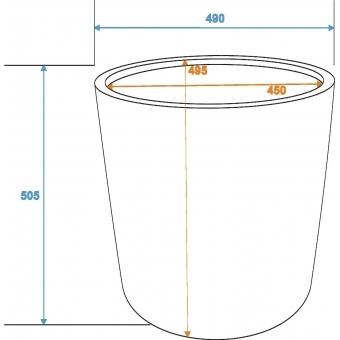 EUROPALMS Cachepot Terracotta-optics round 50x50cm #3