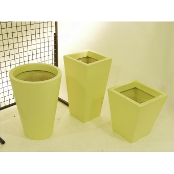 EUROPALMS Fiberglasspot, yellow, 39x45cm