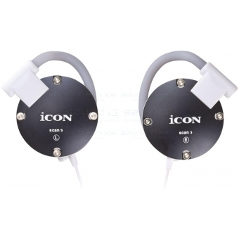 Icon Scan 3 - Casti in-ear alb/negru/silver/pink/red/blue #2
