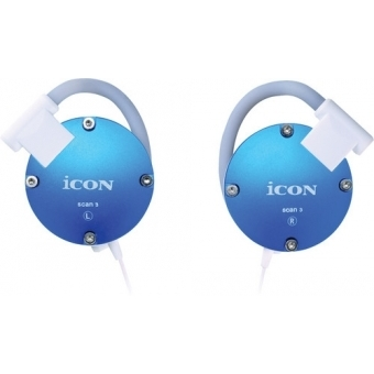 Icon Scan 3 - Casti in-ear alb/negru/silver/pink/red/blue #4