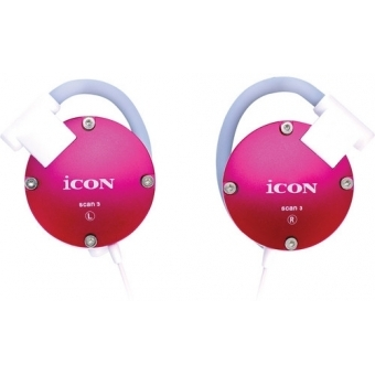 Icon Scan 3 - Casti in-ear alb/negru/silver/pink/red/blue #5