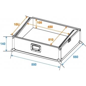 ROADINGER Mixer Case Pro MCB-19, sloping, black 10U #2