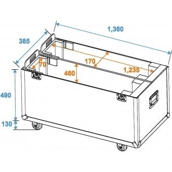 ROADINGER Flightcase 2x LCD ZL50 #4