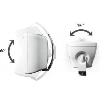 OMNITRONIC OD-4 Wall Speaker 8Ohms white 2x #3
