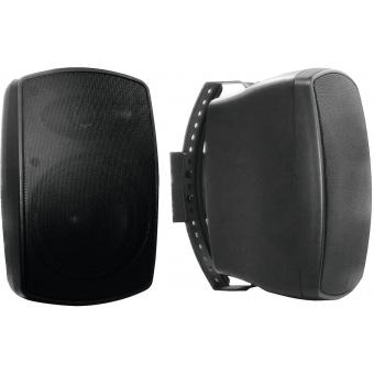 OMNITRONIC OD-5A Wall Speaker active black 2x