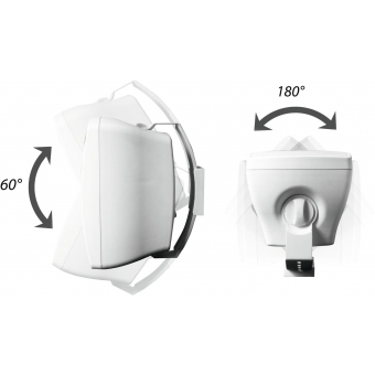 OMNITRONIC OD-6 Wall Speaker 8Ohm white 2x #3
