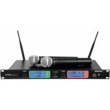 OMNITRONIC UHF-502 2-Channel Wireless Mic System 823-832MHz