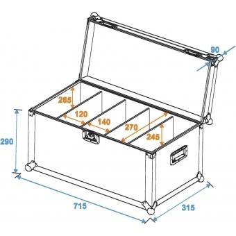 ROADINGER Flightcase 4x PRO Slim Size M ECO #4