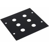 OMNITRONIC Module 2U 6x 6.3mm plug 88x88mm