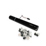 MAGICFX  Tun Electric Streamers Metalizate, 40cm, Alb +Argintiu