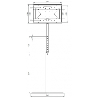 Flat panel support floor stand 55' #2