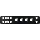 OMNITRONIC Front Panel Z-19 8x D-Type/4xNL8/T 2U