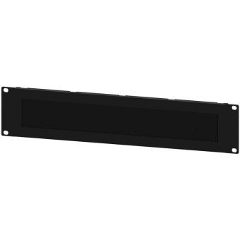 "BSB02 - 19"" Blind Cover, Steel, 2 Unit, With Brush, Black"