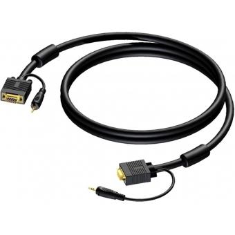 CAV115/30-H - Svga Male - Svga Male + Minijack Male Stereo - 30m - H