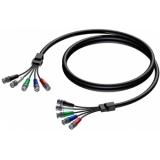 CAV122/10-H - Kabel 5x Bnc Mann.-5x Bnc Mann.-10m