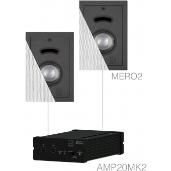 CERRA2.2/W - Small Background Set Amp20 & 2x Mero2 White