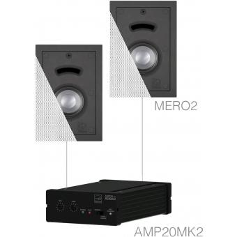 CERRA2.2/W - Small Background Set Amp20 & 2x Mero2 White