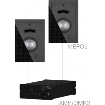 CERRA2.2/B - Small Background Set Amp20 & 2x Mero2 Black