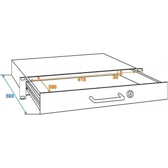 OMNITRONIC Rack Drawer with Lock 1U #3