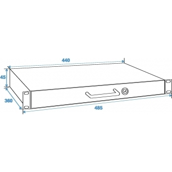 OMNITRONIC Rack Drawer with Lock 1U #4