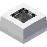 CP45BOX1 - Surface mount box for 45X45 standard range - Black version