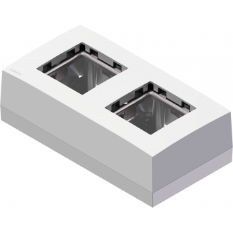 CP45BOX2/W - Double Surface Mount Box For 45x45 Standard Range - White #2