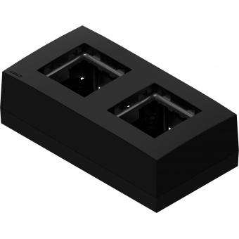CP45BOX2/W - Double Surface Mount Box For 45x45 Standard Range - White