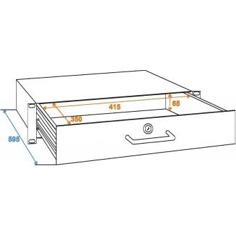 OMNITRONIC Rack Drawer with Lock 2U #3