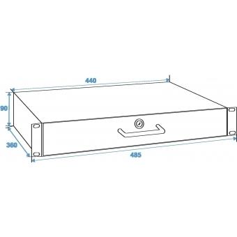 OMNITRONIC Rack Drawer with Lock 2U #4