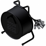CRX12.0/10 - Cable Reel + Balanced Signalcable 12 In - 10 Meter