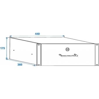 OMNITRONIC Rack Drawer with Lock 4U #4