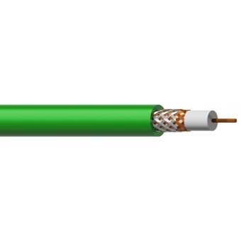 CXV107/1 - Reference Coax Video Cable 75ohm Flex 7mm Color Green -100m