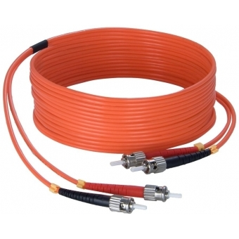 FBS125/10 - Fiber Optic St/pc To St/pc - Duplex, 62.5/125µm, Lshf - 10m