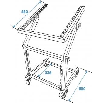 OMNITRONIC Rack Stand 12U/10U adjustable on Wheels #6