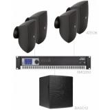 FESTA6.5/B - Medium Foreground Set 4x Ateo6 + Baso12 & Smq350 - Black