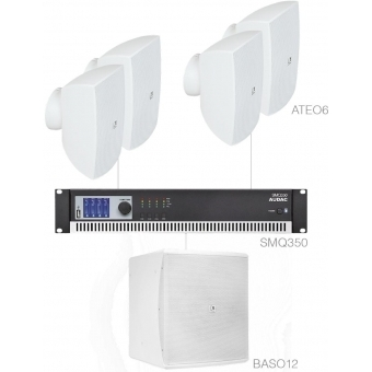 FESTA6.5/W - Medium Foreground Set 4x Ateo6 + Baso12 & Smq350 - White