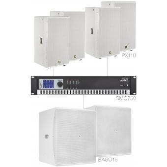 FORTE10.6/W - Large Foreground Set 4x Px110 + 2x Baso15 & Smq750 - White