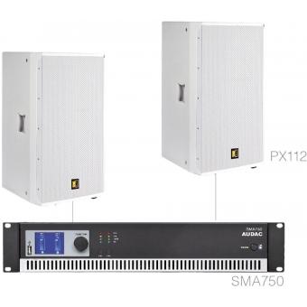 FORTE12.2/W - X Large Foreground Set 2x Px112 + Sma750 - White