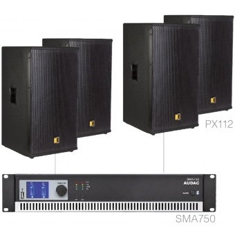 FORTE12.4/B - X Large Foreground Set 4x Px112 + Sma750 - Black