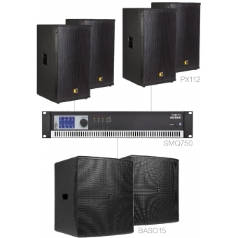FORTE12.6/B - X Large Foreground Set 4x Px112 + 2x Baso15 & Smq750 - Black