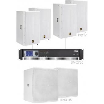 FORTE12.6/W - X Large Foreground Set 4x Px112 + 2x Baso15 & Smq750 - White