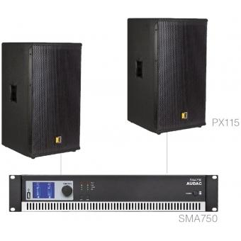 FORTE15.2/B - X Large Foreground Set 2x Px115 + Sma750 - Black