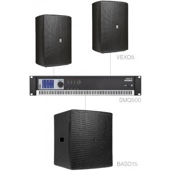 FORTE8.3/B - Medium Foreground Set 2x Vexo8 + Baso15 & Smq500 - Black