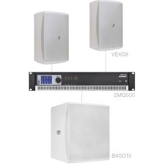 FORTE8.3/W - Medium Foreground Set 2x Vexo8 + Baso15 & Smq500 - White