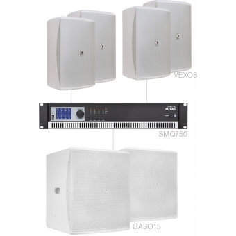 FORTE8.6/W - Large Foreground Set 4x Vexo8 + 2x Baso15 & Smq750 - White